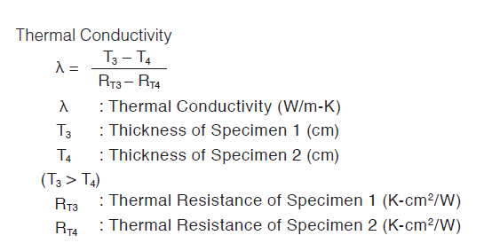 Thermal Conductivity by ASTM D5470 modified